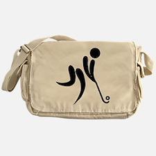 Cute Field hockey Messenger Bag