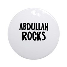 Abdullah Rocks Ornament (Round)