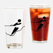 Cute Water ski art Drinking Glass