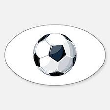 Unique Soccer ball art Sticker (Oval)
