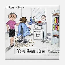 Hair Dresser, Female Tile Coaster