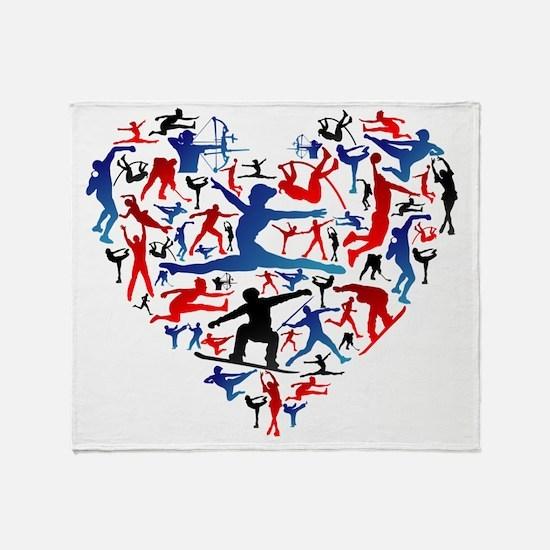 Cute Olympic Throw Blanket