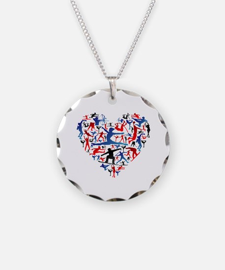 Unique Olympic Necklace Circle Charm