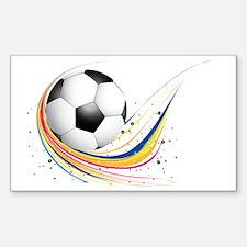 Cute Soccer ball art Sticker (Rectangle)