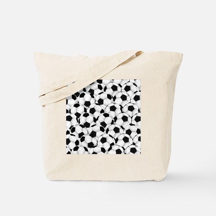 Cute Soccer clipart Tote Bag