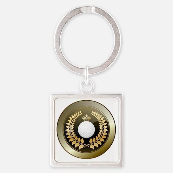 Oliver shield Square Keychain