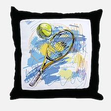 Cute Tennis Throw Pillow