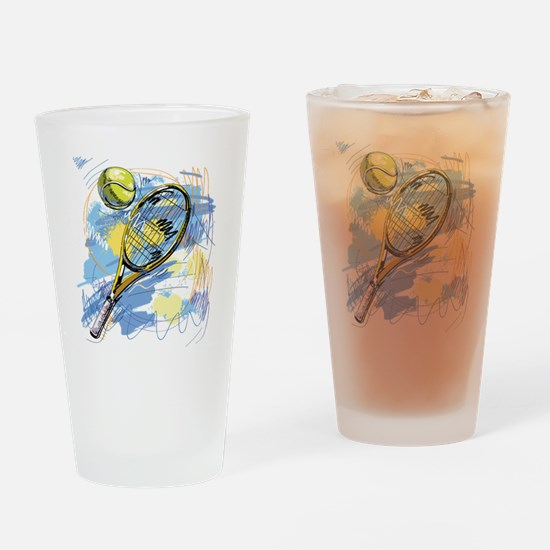 Cute Hand drawn Drinking Glass