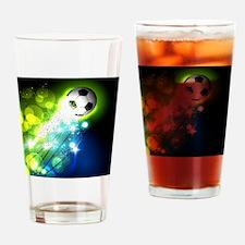Funny Soccer ball art Drinking Glass