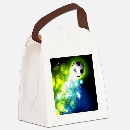 Cute Soccer Canvas Lunch Bag