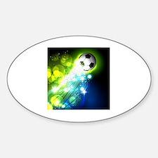 Funny Soccer ball art Sticker (Oval)