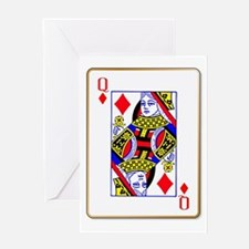 Queen Diamonds Greeting Cards