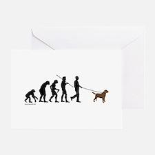 Chocolate Lab Evolution Greeting Cards