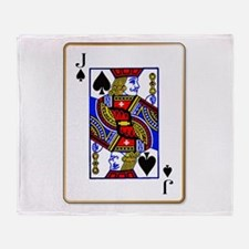 Joker Spades Throw Blanket