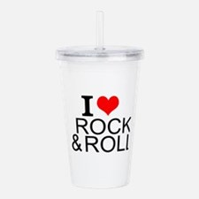 I Love Rock And Roll Acrylic Double-wall Tumbler