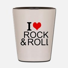 I Love Rock And Roll Shot Glass