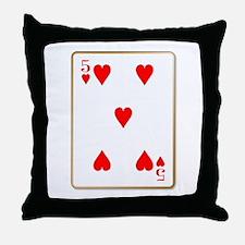 Five Hearts Throw Pillow