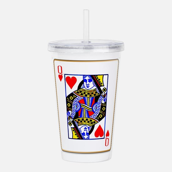 Queen Hearts Acrylic Double-wall Tumbler