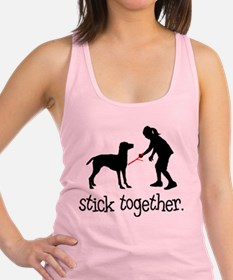 Cute Dog mutt Racerback Tank Top