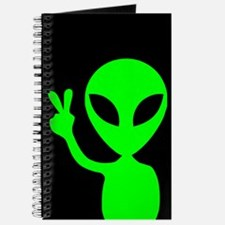 Alien Peace Sign Journal