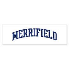 MERRIFIELD design (blue) Bumper Bumper Sticker