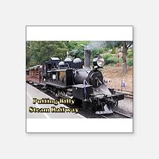 """Old Fashioned Black Steam Train Square Sticker 3"""""""