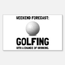 Weekend Forecast Golfing Decal