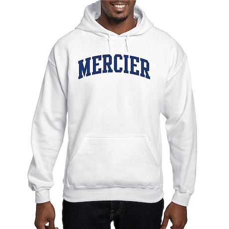 MERCIER design (blue) Hooded Sweatshirt