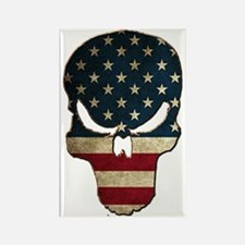 Punishing Skull with American Flag Magnets
