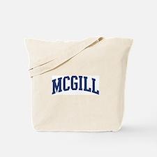 MCGILL design (blue) Tote Bag