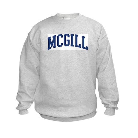 MCGILL design (blue) Kids Sweatshirt