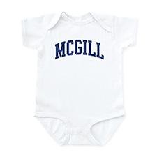 MCGILL design (blue) Infant Bodysuit