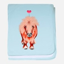 PONY-with a heart baby blanket