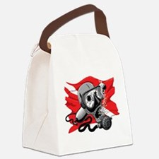 Diver Down Skull Canvas Lunch Bag