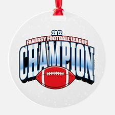 2012 Fantasy Football Champion Ornament