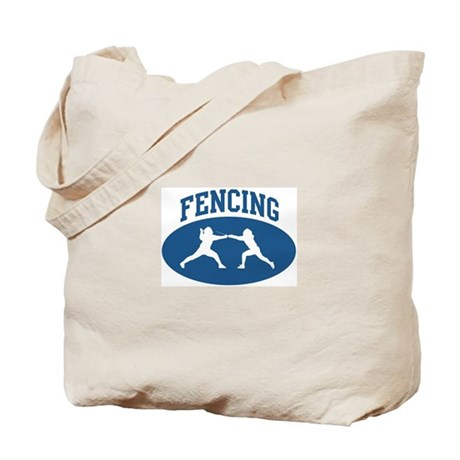 Fencing (blue circle) Tote Bag