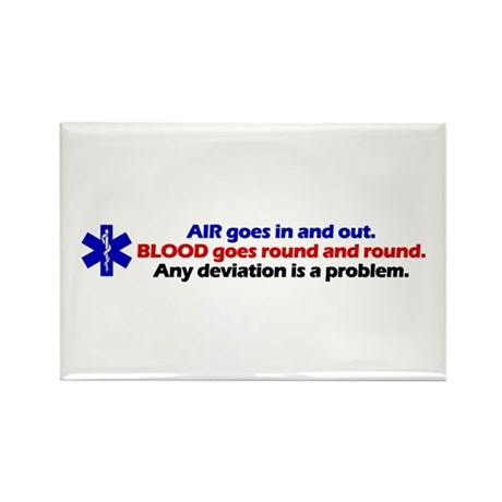 Air/Blood... Rectangle Magnet (100 pack)