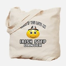 Irish Step Dancer Designs Tote Bag