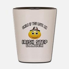 Irish Step Dancer Designs Shot Glass