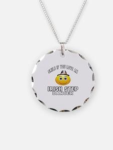 Irish Step Dancer Designs Necklace Circle Charm