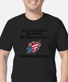 Teamsters-Keep America Union Strong! T-Shirt