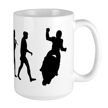 Motorcycle Evolution Large Mug