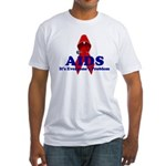 AIDS RIBBON Fitted T-Shirt