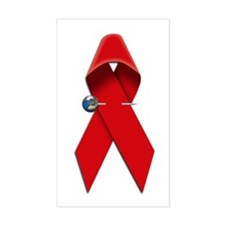 AIDS RIBBON Rectangle Decal