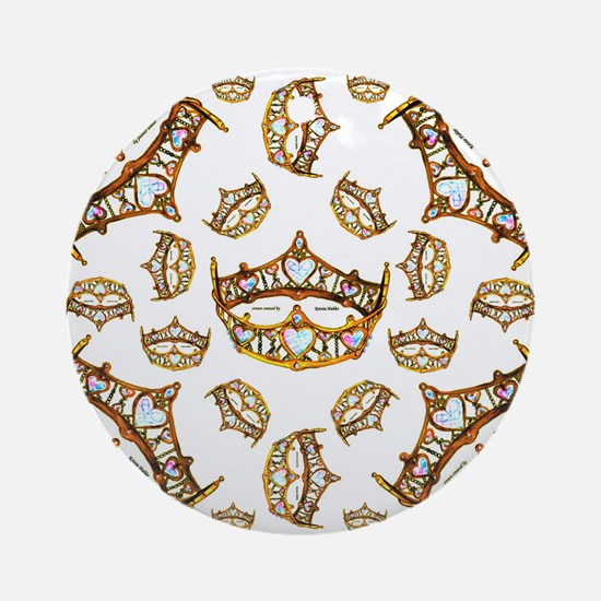 Queen of Hearts Gold Crown Tiara scattered pattern