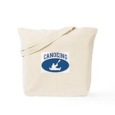 Canoeing (blue circle) Tote Bag