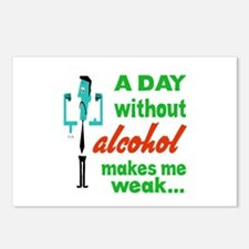 A day without Alcohol mak Postcards (Package of 8)