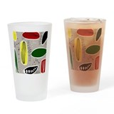Atomic era Pint Glasses