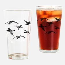 Cute Duck hunter Drinking Glass