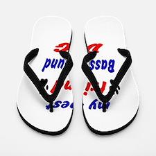 My best friend Basset Hound Dog Flip Flops